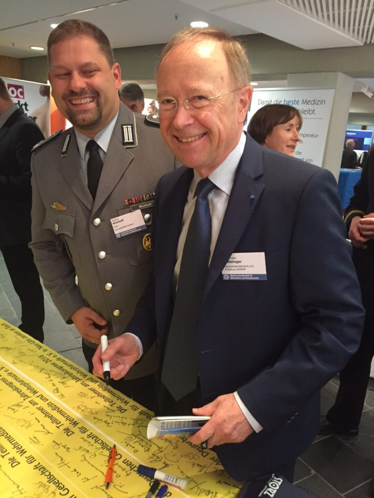 Der designierte Nachfolger des Präsidenten der DGWMP GOSA a.D. Dr. Blätzinger